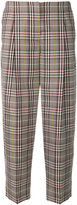 Victoria Beckham cropped plaid trousers