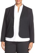 Lafayette 148 New York Plus Size Women's 'Gladstone' Stretch Wool Jacket