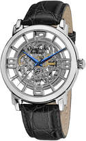 Stuhrling Original Sthrling Original Mens Silver-Tone Dial Croc-Look Strap Automatic Watch