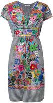 P.A.R.O.S.H. striped embroidered dress - women - Cotton/Polyamide/Spandex/Elastane - S