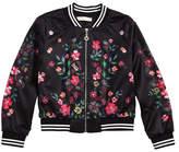 Truly Me Floral Print Bomber Jacket (Toddler Girls & Little Girls)