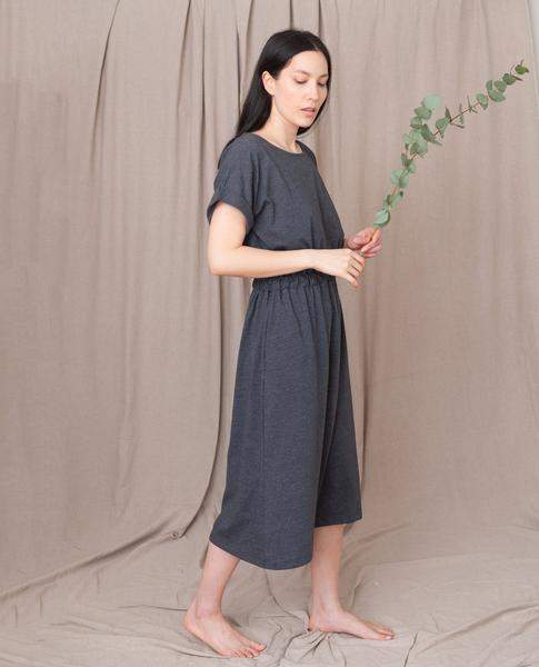 Beaumont Organic Marissa Organic Cotton Dress In Grey Marl - Grey Marl / Small