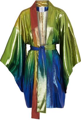 Rosie Assoulin Degrade Silk-blend Lame Kimono