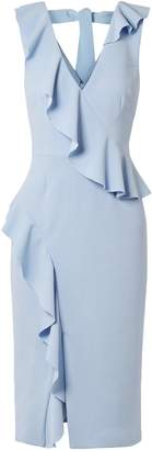 Rebecca Vallance Sylvette Ruffle-trimmed Crepe Dress