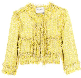 LANVIN Pre-Owned Collarless Tweed Jacket