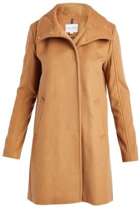 Cole Haan Women's Car Coats Camel - Camel Snap Wool-Blend Car Coat - Women