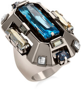Swarovski Cristaux Deco Cocktail Ring, ruthenium plating