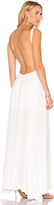 Blq Basiq Low Plunge Maxi Dress in White