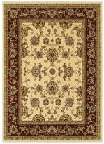 """LNR Home Grace LR81135 Ivory/Red Plush Indoor Area Rug 7'9"""" x 9'5"""""""