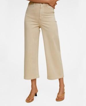 MANGO Women's Jeans Culotte High Waist