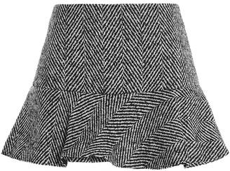 RED Valentino Chevron Mini Skirt