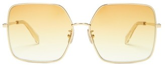 Celine Oversized Square Metal Sunglasses - Yellow Gold