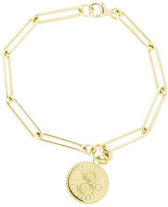 Foundrae 18kt yellow gold Karma extended clip bracelet