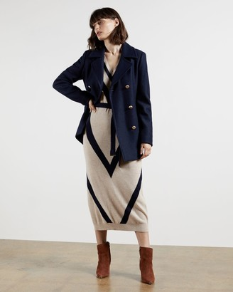 Ted Baker Double Breasted Pea Coat