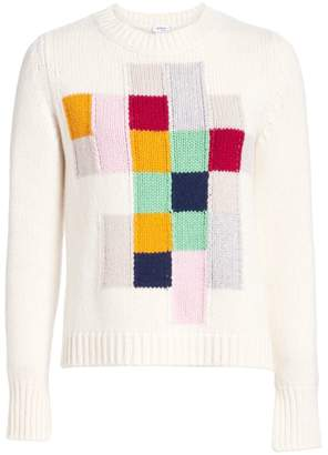 Akris Punto Pixel Intarsia Long Sleeve Knit Pullover