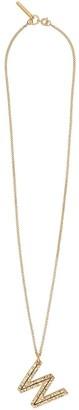 Burberry W alphabet charm necklace