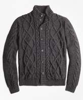 Brooks Brothers Hand-Knit Merino Wool and Alpaca Cardigan
