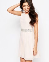 Club L Embellished Detail Chiffon Babydoll Dress