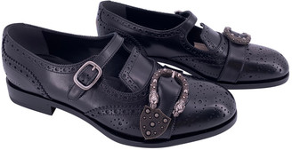 Gucci Queercore Black Leather Lace ups