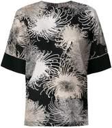 No.21 printed short sleeve blouse