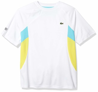Lacoste Men's Sport Short Sleeve Ultra Dry Colorblock T-Shirt