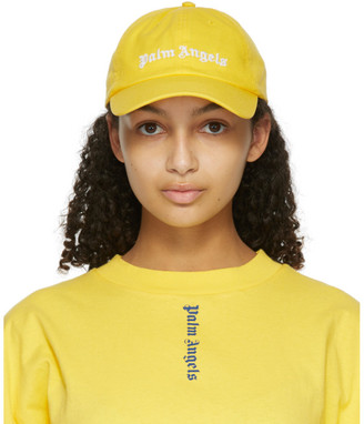 Palm Angels Yellow Classic Logo Cap