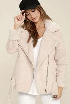 J.o.a. We Go Together Blush Pink Sherpa Coat