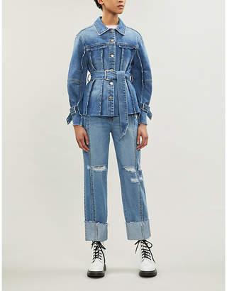 Sjyp Raw-seam denim jacket