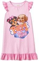 Intimo Girls 4-12 Puppy In My Pocket Tessa & Eileen Ruffle Dorm Nightgown