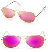 Ray-Ban New Aviator Mirrored Sunglasses, 59mm