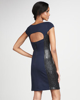 Phoebe Couture Open-Back Cocktail Dress