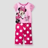 Toddler Girls' Disney® Minnie Mouse 2-Piece Pajama Set - Pink