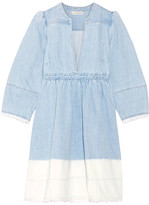 Ulla Johnson Alina Ombré Denim Mini Dress - Light denim