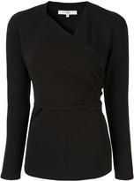 Tibi structured V-neck blouse