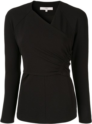 Tibi structured V-neck blouse