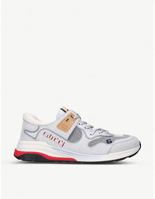 Gucci Ultrapace metallic leather trainers