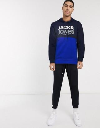 Jack and Jones Core overhead hoodie cut and sew