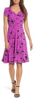 Leota Women's Print Jersey Fit & Flare Dress