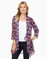 Charming charlie Blooming Floral Chiffon Cardigan