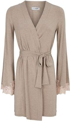 I.D. Sarrieri Lace Trim Robe