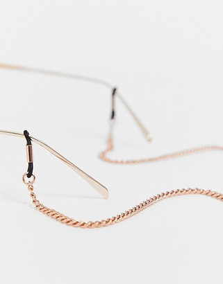 ASOS DESIGN glasses chain in rose gold tone