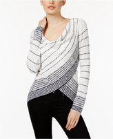 INC International Concepts Striped Crossover Top, Only at Macy's