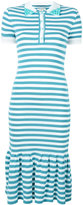 Natasha Zinko striped polo dress - women - Polyester/Viscose - S