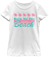 Fifth Sun White 'Born On The Beach' Tee - Toddler & Girls