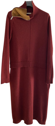 Celine Burgundy Wool Dresses