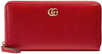 Gucci Petite Leather Zip Around Wallet