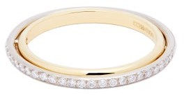 Charlotte Chesnais Fine Jewellery - Eclipse Diamond-pave & 18kt Gold Ring - Gold