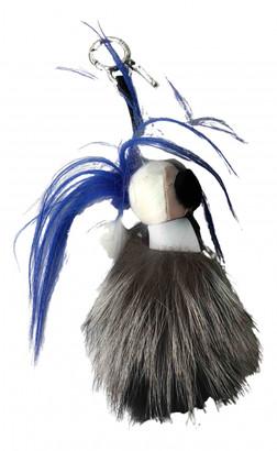Fendi Karlito Blue Leather Bag charms