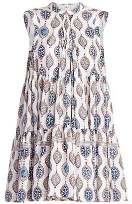 Chloé Ceramic-Print Silk Habotai A-Line Dress