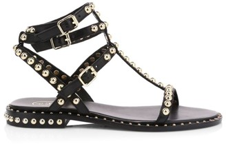 Ash Play Studded Leather Gladiator Sandals
